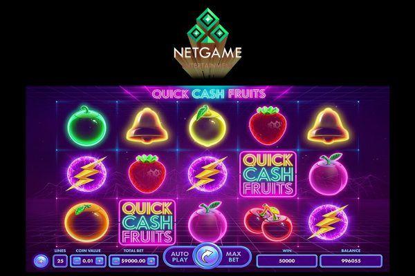 NetGame представили футуристический фруктовый слот Quick-Cash-Fruits.