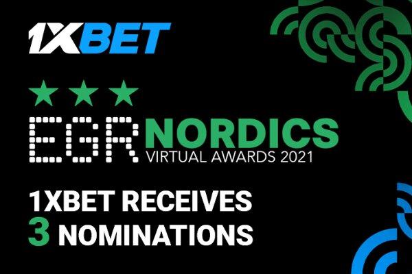 1xBet получил 3 номинации на EGR Nordics